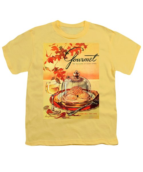 A Gourmet Cover Of Mushrooms On Toast Youth T-Shirt