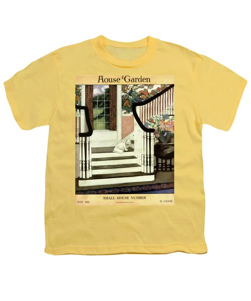 A House And Garden Cover Of A Cat On A Staircase Youth T-Shirt