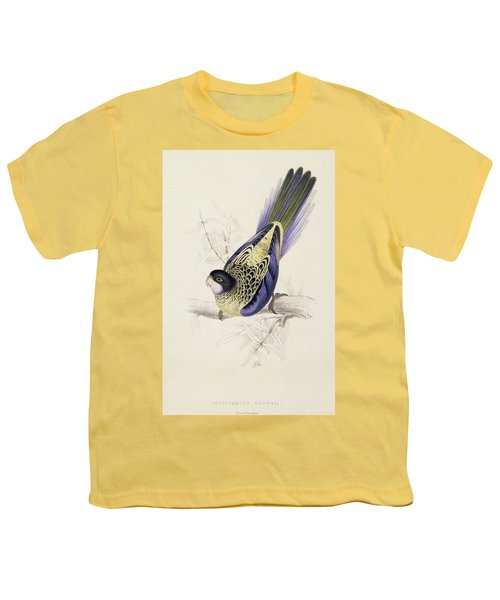 Browns Parakeet Youth T-Shirt by Edward Lear