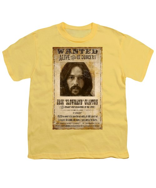 Clapton Wanted Poster Youth T-Shirt