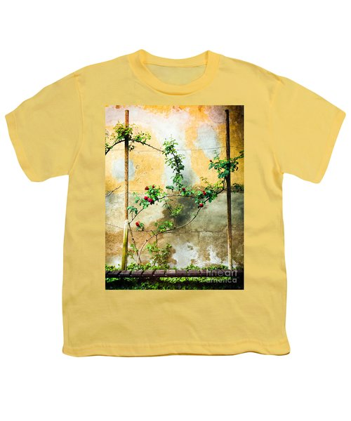 Youth T-Shirt featuring the photograph Climbing Rose Plant by Silvia Ganora