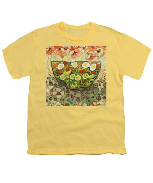 Cool Summer Salad Youth T-Shirt by Jen Norton