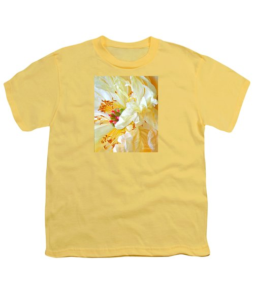 Youth T-Shirt featuring the photograph Heart Of Peony by Nareeta Martin