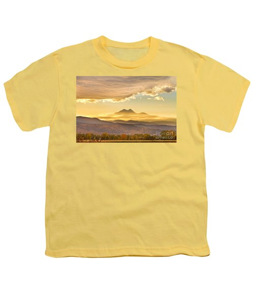 Longs Peak Autumn Sunset Youth T-Shirt