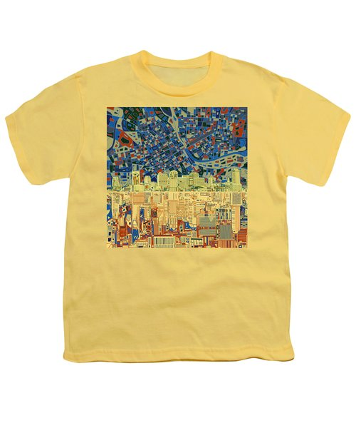 Nashville Skyline Abstract 9 Youth T-Shirt