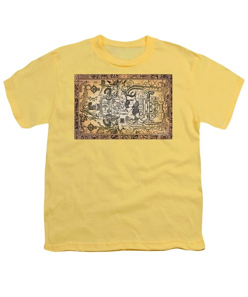 Youth T-Shirt featuring the photograph Pakal Sarcophagus Lid 1 by Gary Keesler