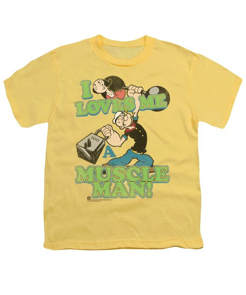 Popeye - Muscle Man Youth T-Shirt by Brand A