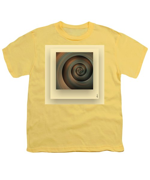 Youth T-Shirt featuring the digital art The Green Spiral by Mihaela Stancu