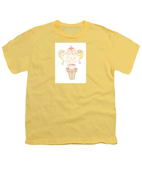 Youth T-Shirt featuring the painting Flower Pot Ladies by Nareeta Martin