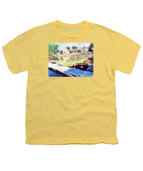 Dories At Beacon Marine Basin Youth T-Shirt by Melissa Abbott