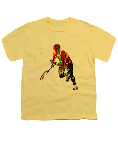 Mens Tennis Collection Youth T-Shirt by Marvin Blaine