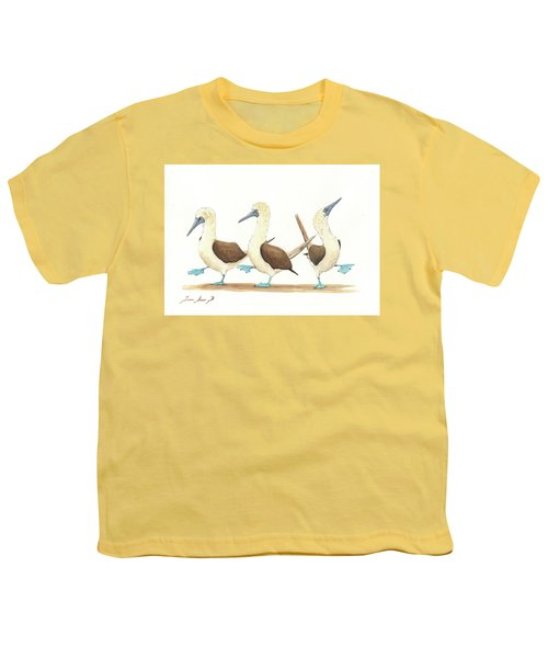 Three Blue Footed Boobies Youth T-Shirt