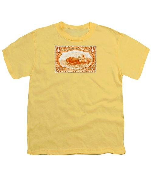 1898 Indian Hunting Buffalo Youth T-Shirt