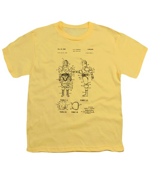 1968 Hard Space Suit Patent Artwork - Vintage Youth T-Shirt by Nikki Marie Smith