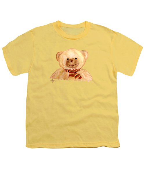 Cuddly Bear Youth T-Shirt by Angeles M Pomata