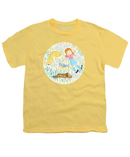 Summer Afternoon With Dogs, Cats And Clouds Youth T-Shirt