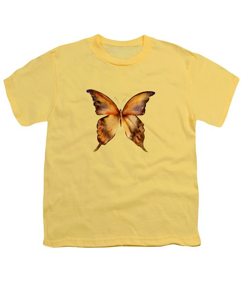 7 Yellow Gorgon Butterfly Youth T-Shirt by Amy Kirkpatrick