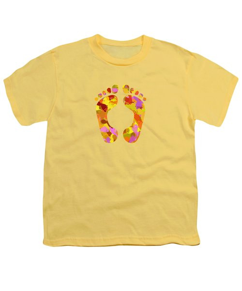 Abstract Footprints On Canvas Youth T-Shirt
