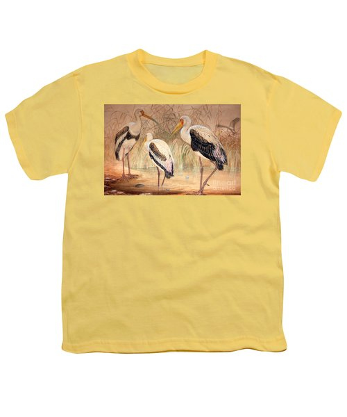 African Tantalus Pseudotantalus Ibis Youth T-Shirt