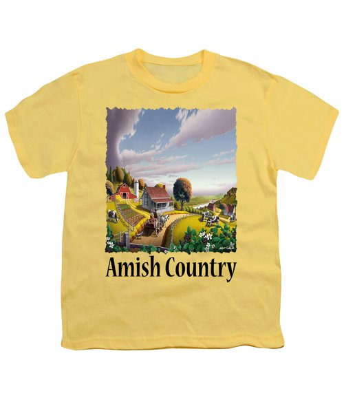 Amish Country - Appalachian Blackberry Patch Country Farm Landscape 2 Youth T-Shirt