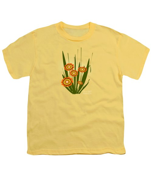 Orange Flowers Youth T-Shirt