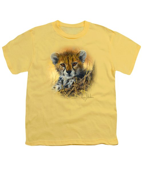 Baby Cheetah  Youth T-Shirt by Lucie Bilodeau