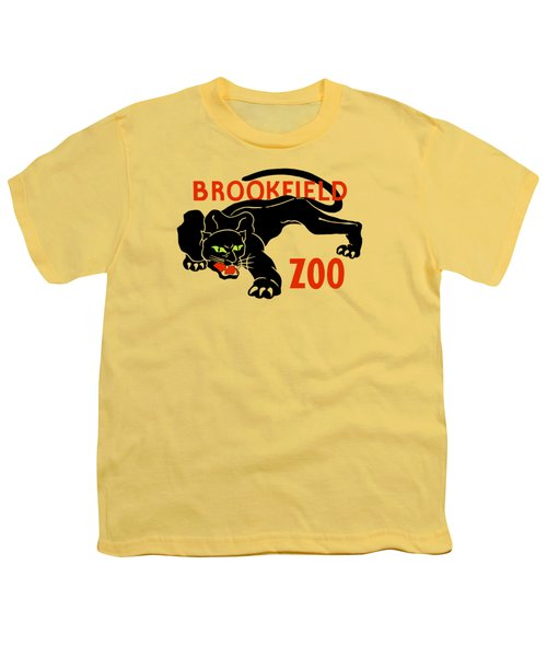 Black Panther Brookfield Zoo Ad Youth T-Shirt by Heidi De Leeuw