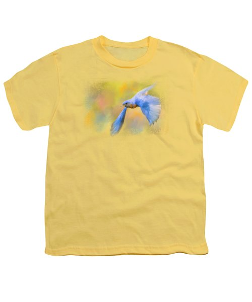 Bluebird Spring Flight Youth T-Shirt by Jai Johnson