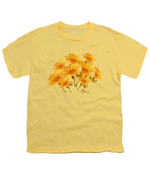 Bouquet Of Daisies Youth T-Shirt by Angeles M Pomata