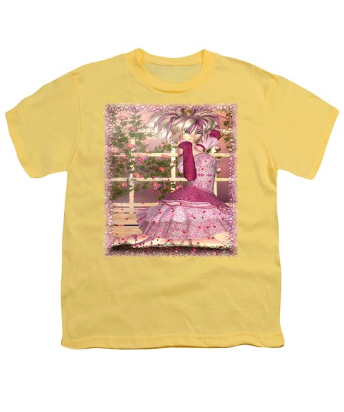 Breath Of Rose Fantasy Elf Youth T-Shirt by Sharon and Renee Lozen