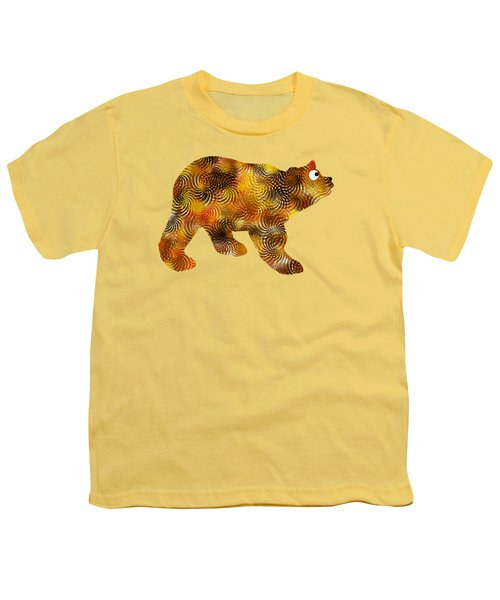 Brown Bear Silhouette Youth T-Shirt by Christina Rollo