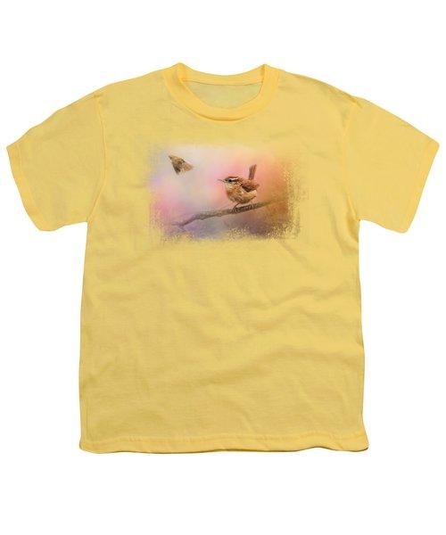 Carolina Wrens Youth T-Shirt by Jai Johnson