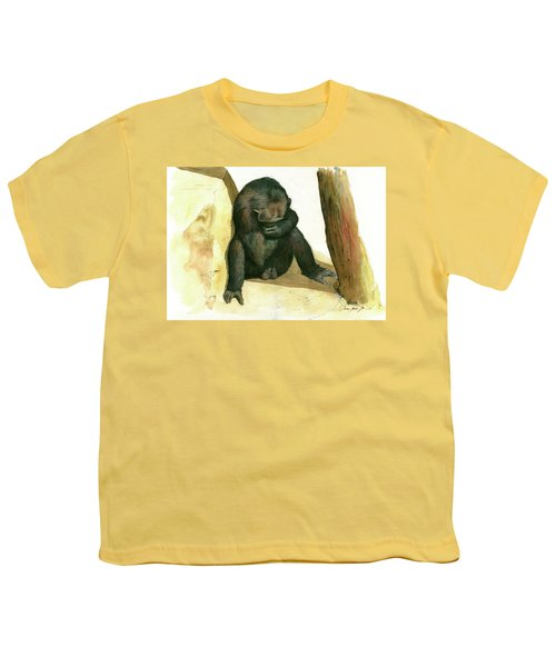 Chimp Youth T-Shirt by Juan Bosco