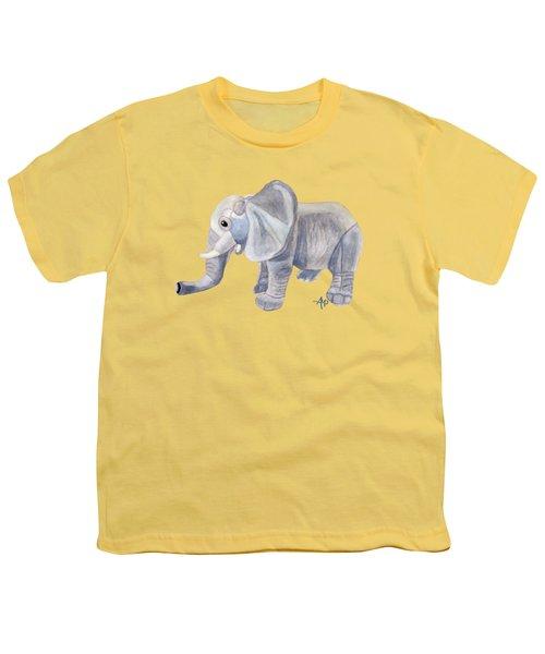 Cuddly Elephant II Youth T-Shirt by Angeles M Pomata