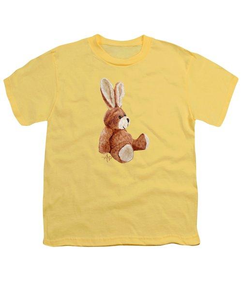 Cuddly Rabbit Youth T-Shirt by Angeles M Pomata