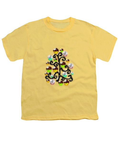 Cupcake Glass Tree Youth T-Shirt by Anastasiya Malakhova