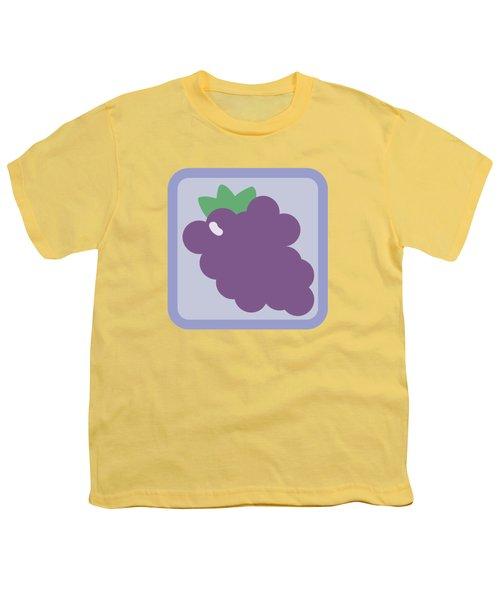 Cute Grapes Youth T-Shirt by Caroline Goh