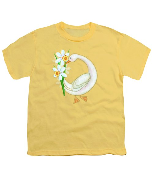 D Is For Duck And Daffodils Youth T-Shirt
