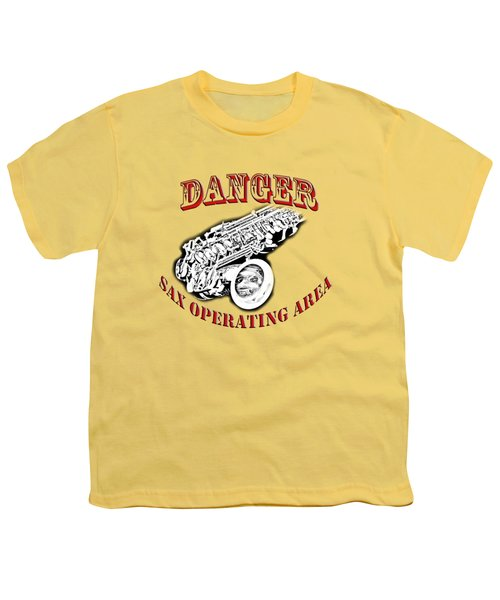 Danger Sax Operating Area Youth T-Shirt