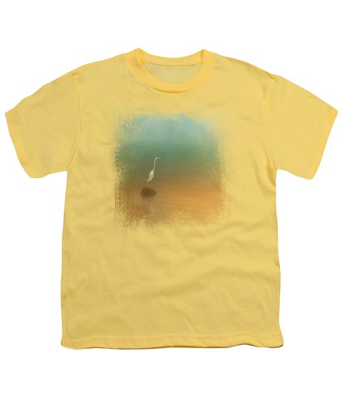 Egret At Sea Youth T-Shirt