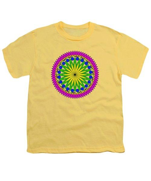 Flower Mandala By Kaye Menner Youth T-Shirt by Kaye Menner