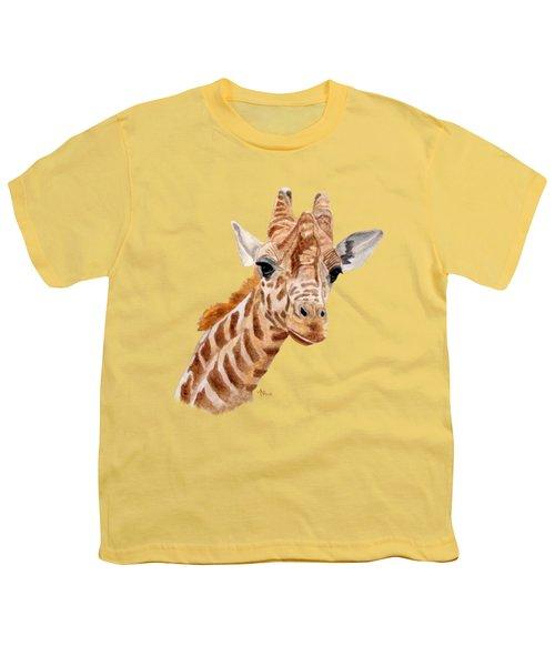 Giraffe Portrait Youth T-Shirt