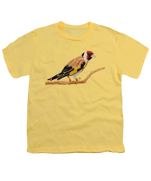 Goldfinch Youth T-Shirt by Angeles M Pomata