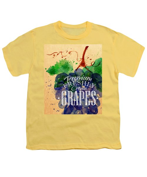 Grapes Youth T-Shirt by Aloke Creative Store