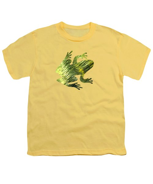 Green Abstract Water Reflection Youth T-Shirt