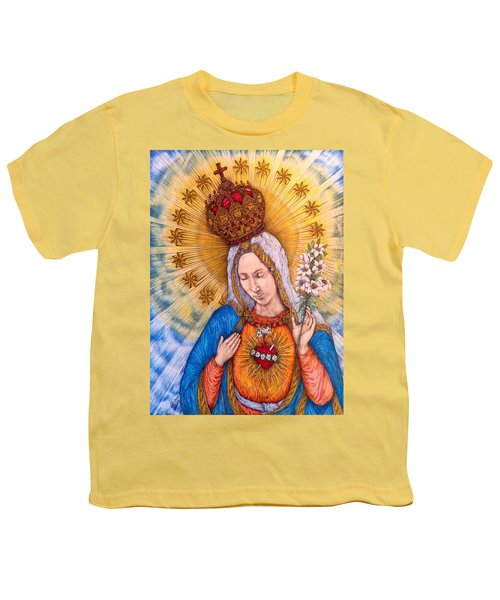 Immaculate Heart Of Virgin Mary Youth T-Shirt by Kent Chua