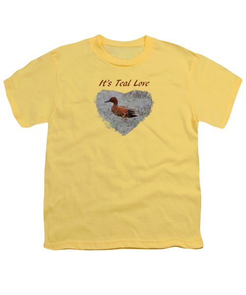 It's Teal Love Youth T-Shirt
