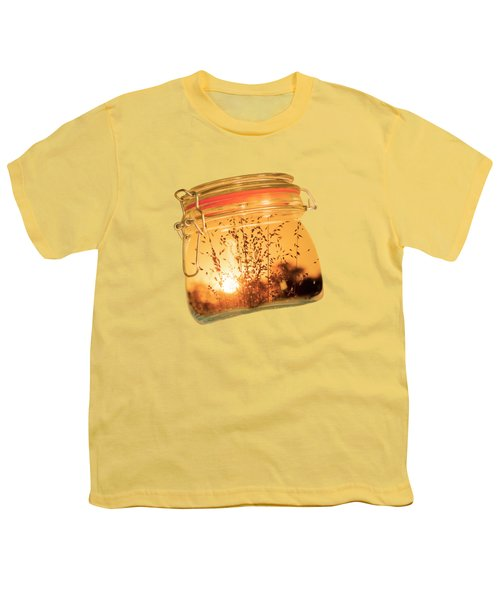 Youth T-Shirt featuring the photograph Jar Full Of Sunshine by Linda Lees
