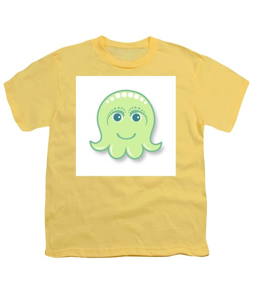 Little Cute Green Octopus Youth T-Shirt