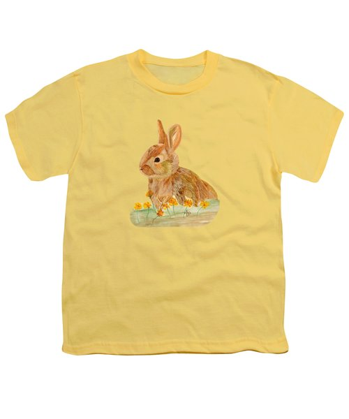 Little Rabbit Youth T-Shirt by Angeles M Pomata